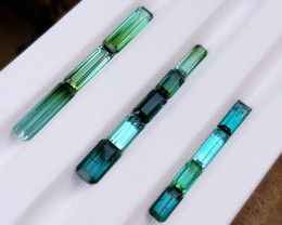 NR 14.35 Ct Natural Greenish Blue Transparent Tourmaline Gemstones Parcel
