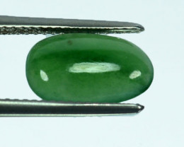 2.26 Cts Natural Green Jade Cabochon Burmese