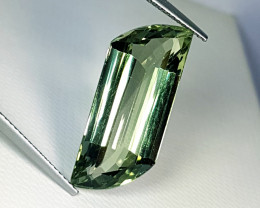 "12.15ct "" Collector's Gem"" Stunning Fancy Cut Natural Green Ameth"
