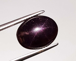 9.57ct AAA star Oval Cabochon Four Rays Star Garnet