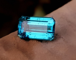 NR 1.80 Ct Natural Blueish Transparent Ring Size Tourmaline Gemstone