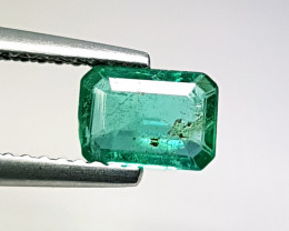 0.88 ct AAA Top Green Stunning Emerald Cut Natural Emerald