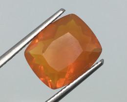 3.16 Carat Fire Opal - Untreated - Luminescent - Big and Beautiful !