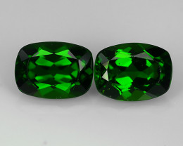 3.10 Cts Eye Catching Natural Rich Green Chrome Diopside Cushion Top Qualit