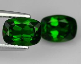 3.20 Cts Eye Catching Natural Rich Green Chrome Diopside Cushion Top Qualit