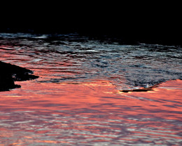 Sunset reflected in ripples...