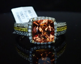 4.42ct Imperial Topaz Ring