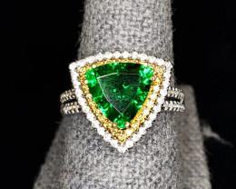 3.46ct Tsavorite Garnet Ring