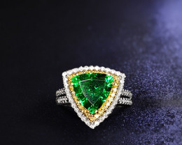 3.46ct Tsavorite Garnet Ring