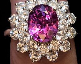 3.33ct Pink Sapphire Ring