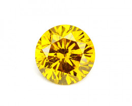 0.12 Cts  Natural Sparkling Yellow Diamond Round Africa