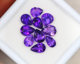 6.99Ct Purple Amethyst Pear Cut Lot A442