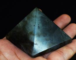 Genuine 767.00 Labradorite Carved Crystal Healing Pyramid
