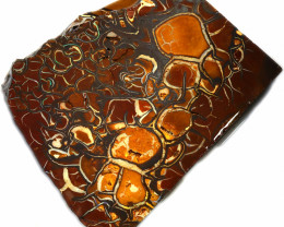 262.75 CTS CHOCOLATE  IRONSTONE  ROUGH WITH  WHITE  SILICA [F7769]4