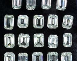 25.01 Cts Natural White Zircon Diamond Cut Octagon Gem