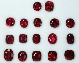 12.46 Cts Natural Pinkish Red Spinel Mixed Parcel 17 Pcs