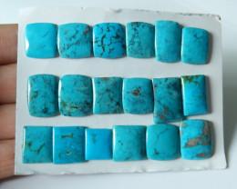 145cts Unique natural turquoise cabochon beads semi-gem (A398)