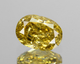 ~UNTREATED~ 0.21 Cts Natural Yellow Diamond Oval Africa