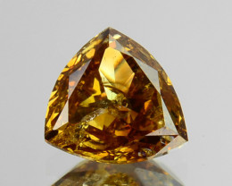 0.32 Cts Natural Golden Champagne Diamond Trillion Africa