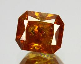 0.37 Cts Natural Orange Diamond Octagon Africa
