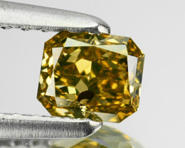 0.36 Cts Natural Green Diamond Octagon Africa