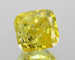 0.55 Cts Natural Yellow Diamond Octagon Africa
