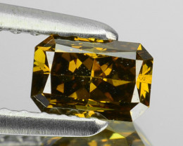 0.54 Cts Natural Brownish Green Diamond Octagon Africa