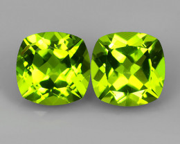3.25 Cts.Magnificient Top Sparkling Intense Green-Cushion 7.0 MM~ NR!!!