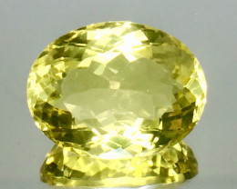 14.01 Crt Natural Lemon Quartz Faceted Gemstone.( AG 82)