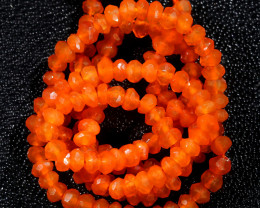 26 CTS A GRADE  CARNELIUM  FACETED STRAND [CREL]