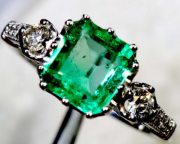 16.30CTS  - 18 K GOLD  EMERALD RING PG-2564