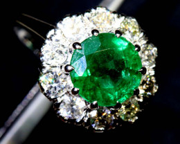 16.50CTS  - 18 K GOLD  EMERALD RING PG-2565