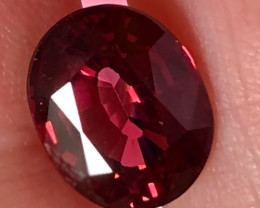 4.30ct - Certified Significant Raspberry Pink Rhodolite Garnet VVS