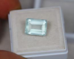 4.57ct Blue Aquamarine Emerald Cut Lot GW2768