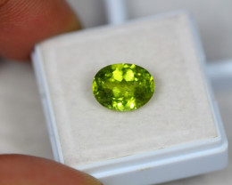 3.61Ct Green Peridot Oval Cut Lot LZ1522