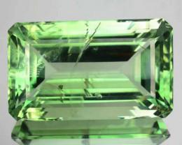 Huge!40.55Cts Natural Green Amethyst Octagon