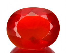 1.81Cts Fantastic Orange Natural Mexican Fire Opal