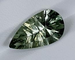 6.55Crt Prasolite Special cut  Best Grade Gemstones JI126