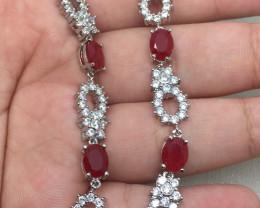 (B9) Gorgeous 68.0tcw  Red Ruby Composite CZ Bracelet