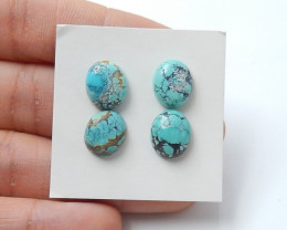 15.5cts Unique natural turquoise oval cabochon beads semi-gem (A505)