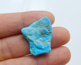 22.5cts Unique natural turquoise nugget shape cabochon bead(A509)