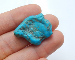 25.5cts Unique natural turquoise nugget shapecabochon bead (A510)