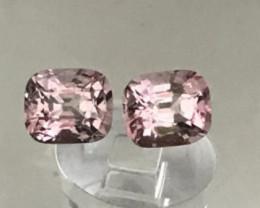 Pretty Luminous Pair of Pink Spinels - Burma G229