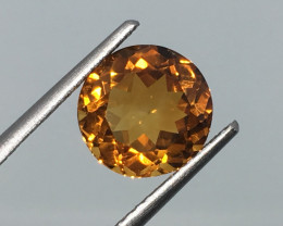 2.47 Carat VVS Citrine Golden Madeira Color - Gorgeous Flash and Quality !