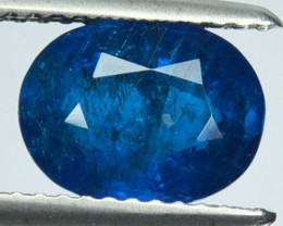 2.02 Cts Untreated Neon Blue Apatite Oval Madagascar