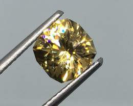 2.46 Carat VVS Zircon Diamond Yellow Master Cut - Exquisite Masterpiece !