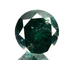 0.55 Cts Natural Deep Blue Diamond Round Cut Africa