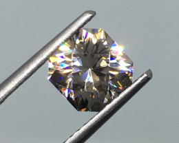 2.18 Carat VVS Zircon Platinum White Master Cut - Masterpiece Flash !
