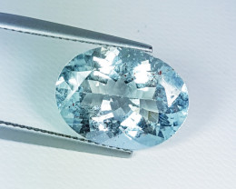 """7.11 ct """" Collective Gem"""" Lovely Oval Cut Natural Aquamarine"""