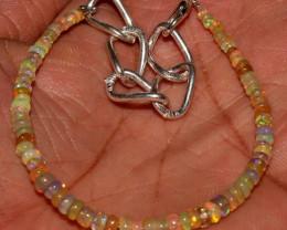 16 Crt Natural Ethiopian Welo Fire Opal Beads Bracelet 113